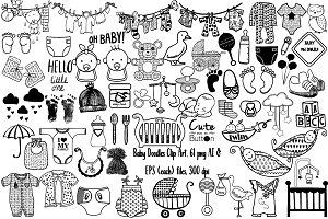 Baby Doodles Clip Art AI EPS PNG