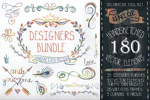 Handsketched designer Bundle Vector