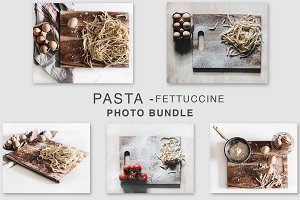 Pasta - Fettuccine Photo Bundle