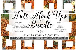 Fall Mock Up Bundle | Hand Lettering