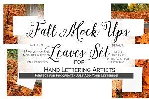 Fall Mock Ups | Leaves Set