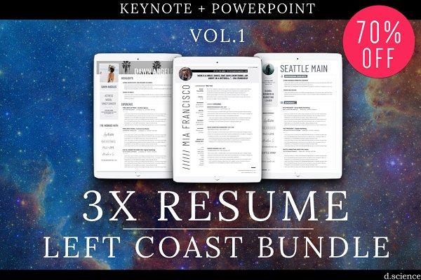 3X Resume Bundle-LeftCoast | 70% Of…