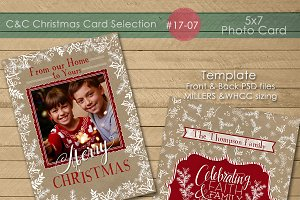Christmas Photo Card Selection 17-07