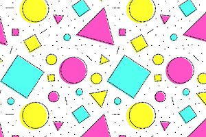 Colorful shapes geo seamless pattern