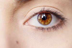 Female brown eyes