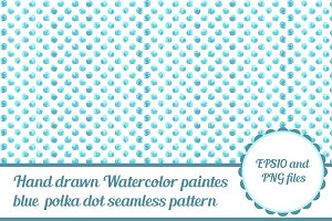 Watercolor vector seamless pattern