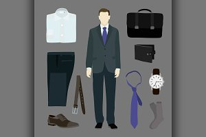 Classical businessman clothes
