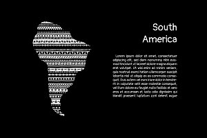 South america patterned silhouette