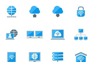 Network icons set