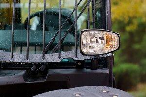 Tractor light yellow