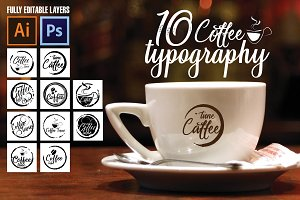 Coffee typography - Logos