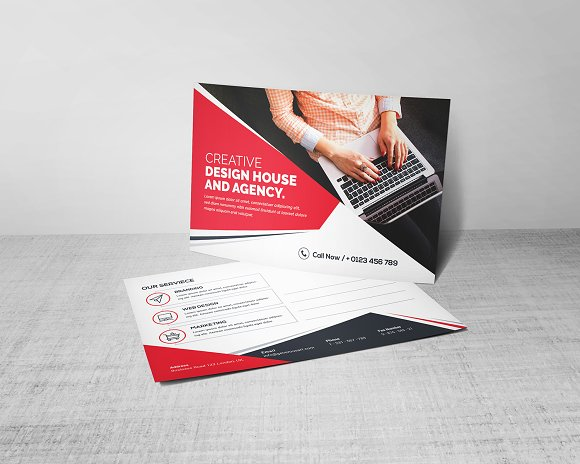 Postcard Template in Stationery Templates