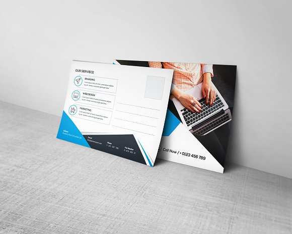 Postcard Template in Stationery Templates - product preview 1