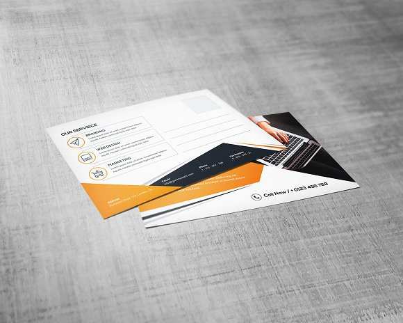 Postcard Template in Stationery Templates - product preview 2
