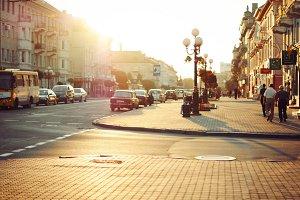 Through the golden city