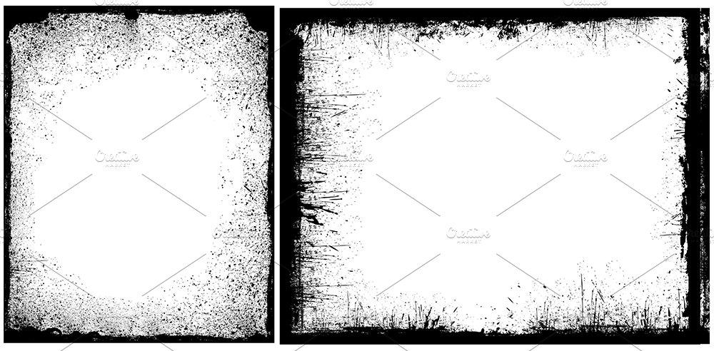 Grunge Border Frames ~ Illustrations ~ Creative Market