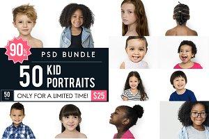 The Best Kids Portrait PSD Bundle