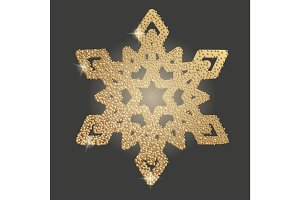 Christmas snowflake symbol