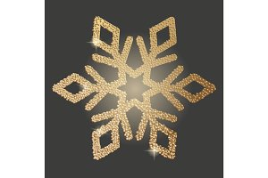 Vector icon of snowflake