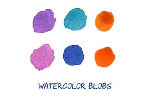 Vector watercolor blobs.