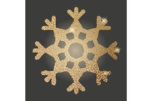 Gold snowflake vector illustration