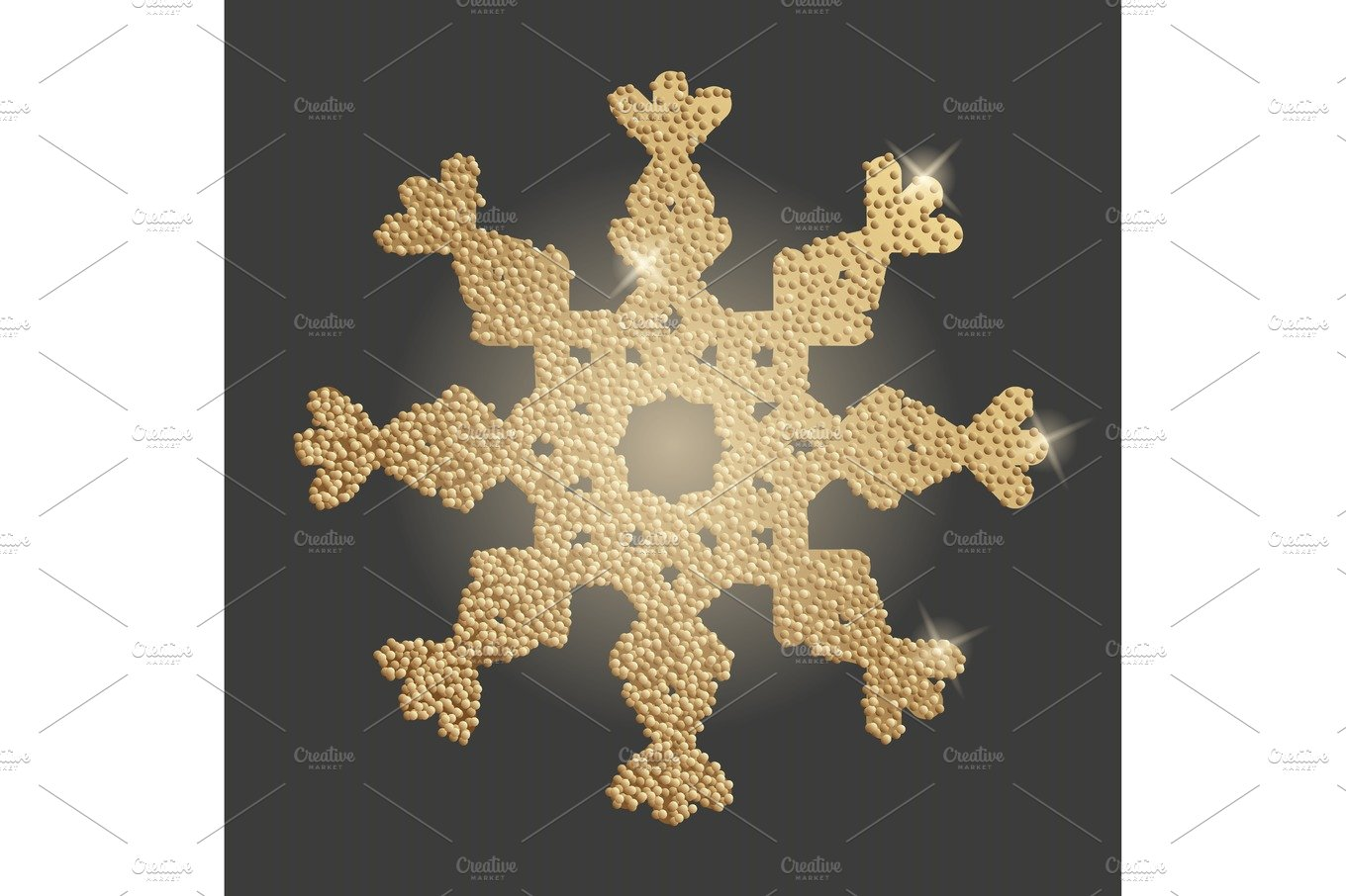 Snowflake Christmas Symbol Graphic Objects Creative Market
