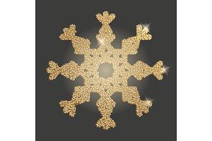 Snowflake christmas symbol.