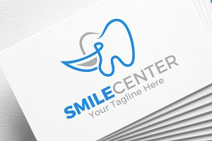 Smile Center | Dental | Logo
