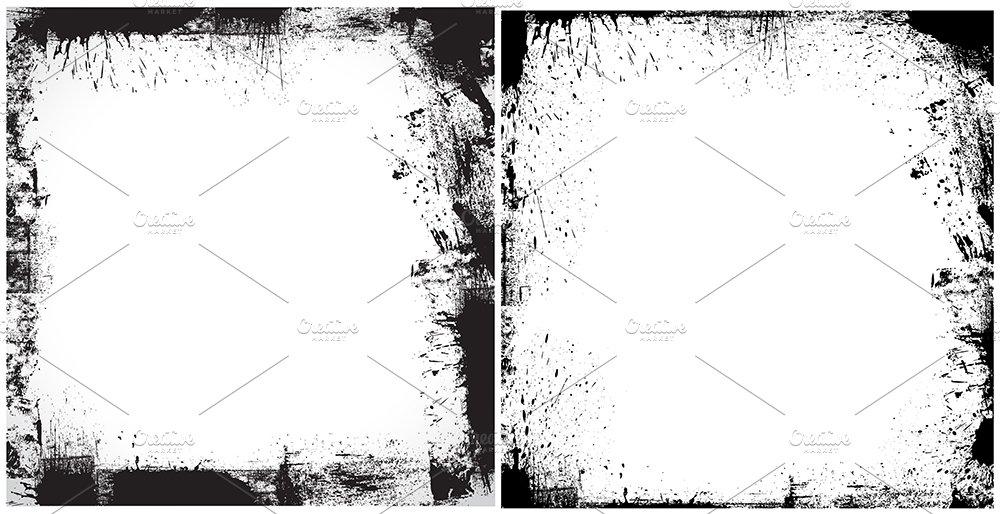 Dirty Frames Vectors ~ Illustrations ~ Creative Market