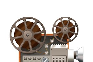 Professional film projector
