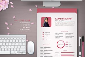 Clean Pink Resume | 2 pages