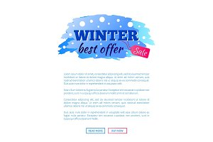 Winter Best Offer Sale Promo Web Poster with Text