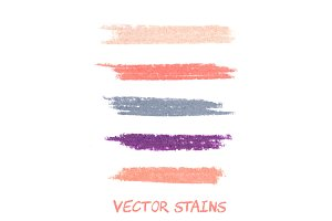 Vector pastel stains.