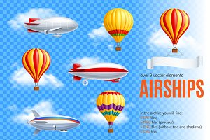 Sale! Realistic Airships Set