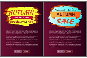 Only Today Autumn Sale -35 % Advert Promo Poster