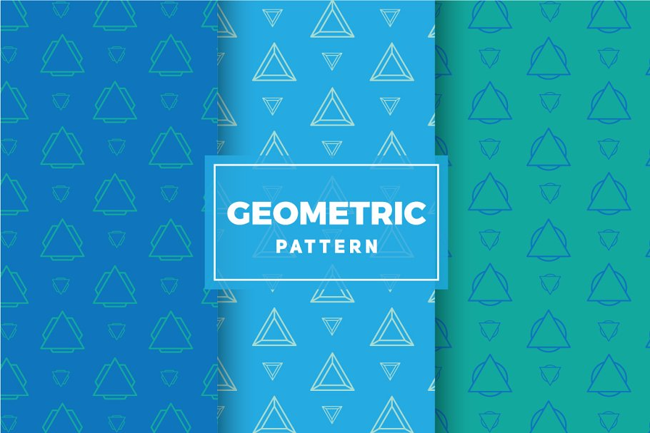 Geometric Vector Patterns #206 in Patterns - product preview 8