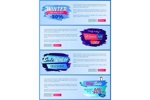Winter Big Sale 2017 Web on Vector Illustration