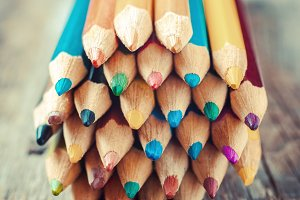 Drawing pencils closeup