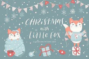 Christmas with little fox