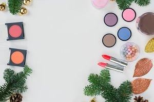 Christmas make up cosmetics