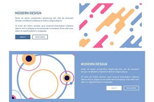 Modern Design with Buttons Vector Illustration