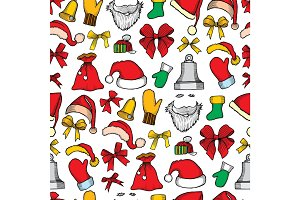 Christmas seamless vector pattern.