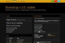 Bootstrap 3.0. Robotron yellow theme