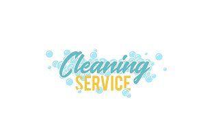 Cleaning servise logo, symbol or badge template