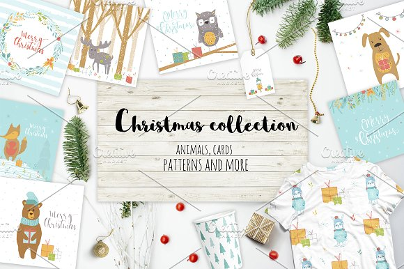 Very Christmas Animals-Graphicriver中文最全的素材分享平台