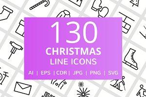 130 Christmas Line Icons