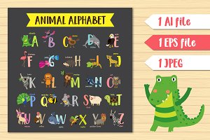 English Animal Alphabet for children