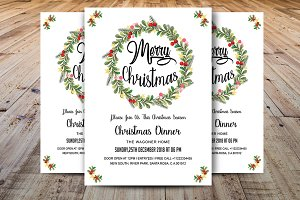 Merry Christmas Dinner Invitations