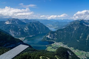 Scenic view of Five Fingers viewing platform in the Alps