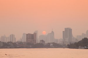 Bangkok city in morning.
